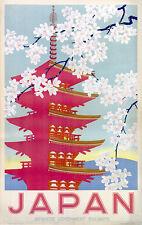 Japan Japanese Government Railways Vintage Print