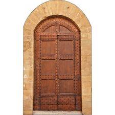 Aufkleber Tür in Holz P102