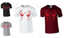 Sanguinoso mano T-SHIRT ZUCCA macchia sangue Halloween Orrore spaventosa (sanguinosi, maglietta)