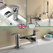 Robinet salle de bain cascade VIRGO bassin mono, bain de remplissage et mitigeur douche en laiton massif