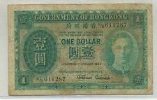 Hong Kong 1952 $1 Note Fine
