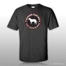 Danger Farting Curly Coated Retriever T-Shirt Tee Shirt Free Sticker dog pet