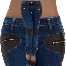 malucas Damen Jeans Slim Fit Hose Stretch Röhrenjeans Hüftjeans Hüfthose Skinny