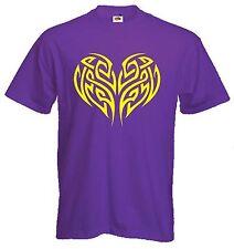 Corazón Celta Druida Camiseta-Pagano Wicca GOTH GOTHIC-Elección De Colores