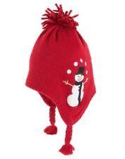 Nwt Gymboree Baby Toddler Boy Snow Chillin' Dark Red Snowman Sweater Hat