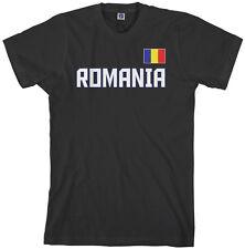 Threadrock Men's Romania National Team T-shirt bucharest flag
