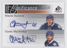 2011-12 SP Game Used Edition #XSIG-MK Nikolai Kulemin Clarke MacArthur Auto Card
