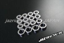Jazrider Metal Sealed RC Ball Bearing Kit Set Tamiya TT-01 TT-01D TT-01R Chassis