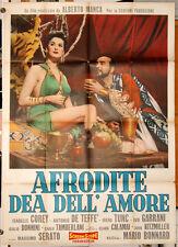Irene Tunc AFRODITE DEA DELL'AMORE manifesto 2F orig. 1959 Peplum Sergio Leone
