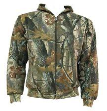 Caballeros Oak Tree Camo Con Capucha cálida 2 capa de cremallera Algodón Caza Chaqueta Para Hombre Tallas