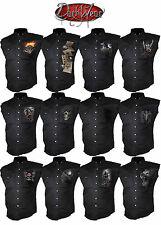 Spiral Direct Camicia Di Lavoro,Biker/Cranio/Rock/heavy Metal/rock/Tinta unita/