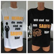 Herren Rundhals T-Shirt ICH HEIRATE Jungesellinnenabschied JGA Feiern Boys Jungs