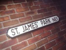 St James Park Old Fashioned Wood Newcastle Vintage Street Sign Road Sign
