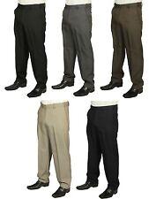 Da Uomo Nuovo Carabou Pantaloni Formali Pantaloni expandaband Nero Grigio Navy Taupe di Marca