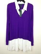 Ralph Lauren Knit Woven New Women's plus Purple MSRP: $135.00