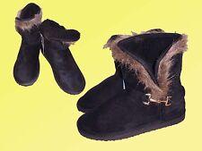 warme Damenstiefel Stiefel Wintersiefel Boots Gr. 36-39  schwarz  NEU