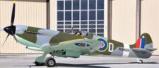 MJ-100 Spitfire Military Jurca MJ100 Airplane Mahogany Kiln Wood Model Large New