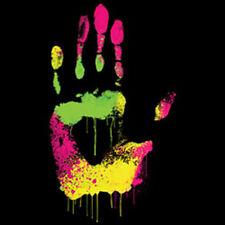 The Hand Colorful Paint Dripping Splatter Art Design T-Shirt Tee