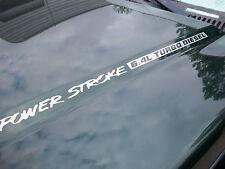 (2) 6.4L PowerStroke Turbo Diesel Hood Engine decals sticker Ford F250 F350