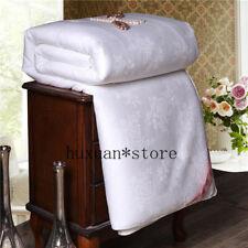 Super Soft Warm Comforter Natural Mulberry Silk Jacquard Quilt Single Double Sz