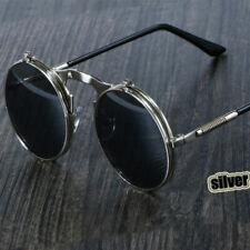 Steampunk Sunglasses Round Vintage Glasses Retro Eyewear Circle Metal Goggles