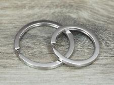 100 Stück Schlüsselringe Design flach silber 25mm o. 30mm gehärtet