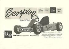 Vintage Beautiful 1963 Bug Scorpion Go-Kart Ad