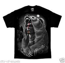 Hunter Native American Indian Moon Bear David Gonzales DGA Art T Shirt
