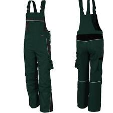 Pantaloni da giardiniere Salopette lavoro Abbigliamento Verde NUOVO