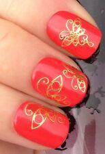 Nail Art Water Transfer Stickers-Tattoo Adesivi Unghie-FARFALLE-Oro-Argento!!!