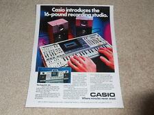 Casio KX-101 Keyboard,Cassette, Boombox Ad, 1984, RARE, Article