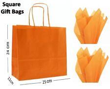 Naranja Cuadrado Papel Bolsas de Regalo Fiesta & ENVOLVER ~ Boutique Tienda LOTE