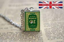 Libro De Mago De Oz Medallón Colgante Collar Fantasía Cuento De Hadas Magia Steampunk