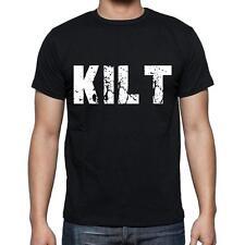 kilt Tshirt, Homme Tshirt, Col Rond Homme T-shirt, Noir, Cadeau