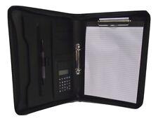 Organizador de anillo de carpeta A4 PU 2 con opción de placa de clip para personalizar texto o logo