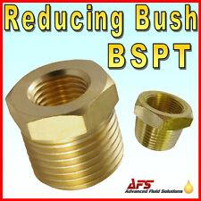 Latón Macho x Hembra Reducir Bush, montaje de aire Gas Reductor de tipo de forma cónica combustible de agua
