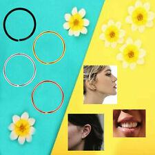 Women Girls 6mm - 8mm 925 Sterling Silver Round Cut End Non Pierced Body Rings