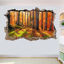 Sunshine Autunno Foresta Adesivi Murali 3D Arte Murale Decalcomania Stanza Ufficio Decor VY8