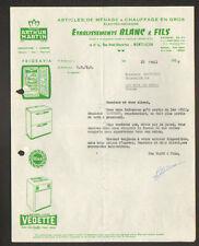 "MONTLUCON (03) COMMERCE APPAREIL MENAGER Arthur MARTIN ""Ets. BLANC & Fils"" 1958"