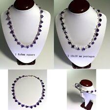 "Handmade Genuine Natural Amethyst Gemstone Necklace 18"""