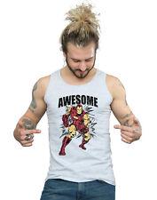 Marvel Hombre Awesome Iron Man Camiseta Sin Mangas