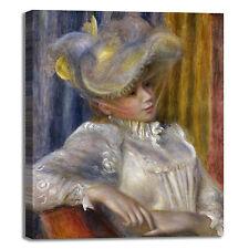 Renoir donna con cappello design quadro stampa tela dipinto telaio arredo casa