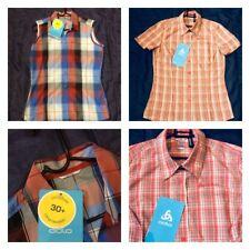 Da Donna Odlo senza maniche verificare piccole Sportivo Donna Top Shirt UV 30+ Brevi