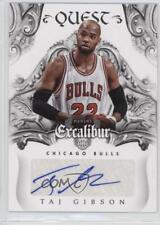 2014-15 Panini Excalibur Quest Signatures #18 Taj Gibson Chicago Bulls Auto Card