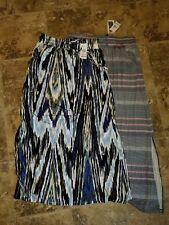 Nwt Womens Design History Long Skirt Maxi Navy Stripe Red Onyx Black S M L XL