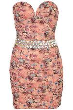 Topshop embellished bandeau dress by Rare UK 14 in Multi ( New )
