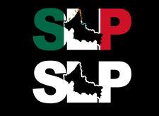 SLP letters Decal Car Window Laptop Map Vinyl Sticker Mexico SLP Mx Estado