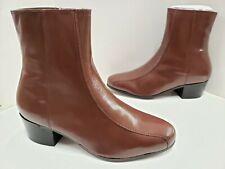 NIB Mens Florsheim DUKE Side Zip Bike Toe Ankle Dress Boots 17287 03 Cognac