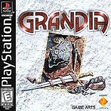 Grandia PS1 Games Playstation 1 - FULL Game - BOTH DISCS 1 & 2