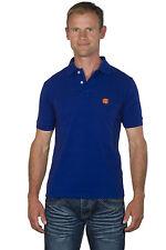 Ugholin - Polo Homme Racing Coton Bleu Electrique Manches Courtes Logo Brodé